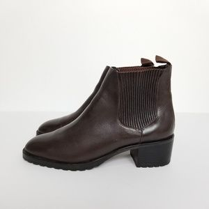 Cole Haan Brown Leather Pull-on Booties